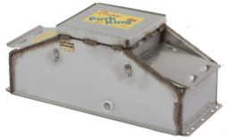 16457 Pork King 2 heated livestock waterer with stainless steel trough for 80 hogs and swine