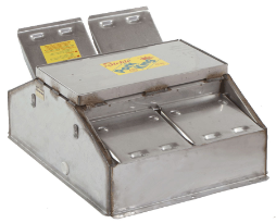 16459 Pork King 4 heated livestock waterer with stainless steel trough for 160 hogs and swine