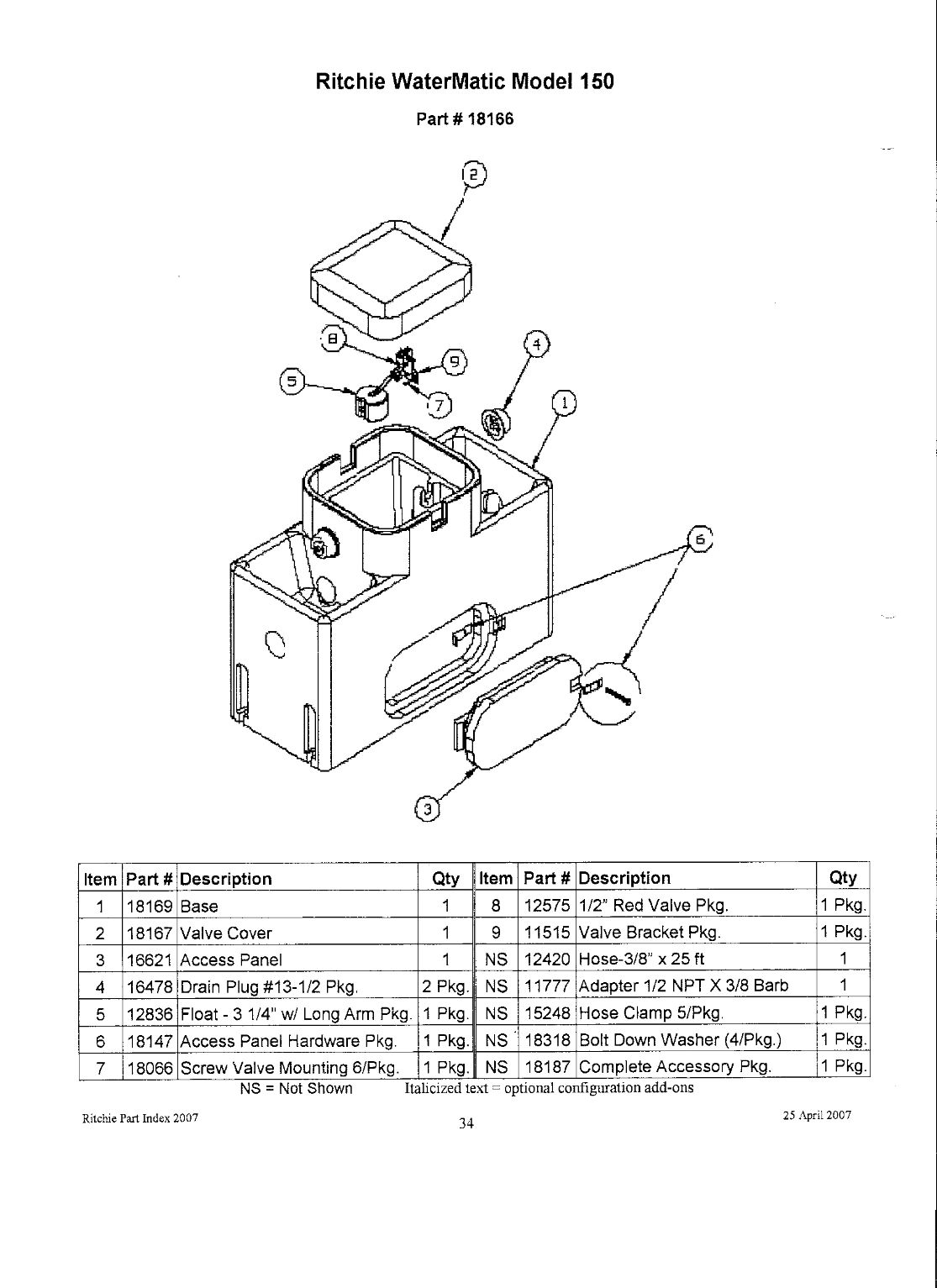 watermatic 150 parts